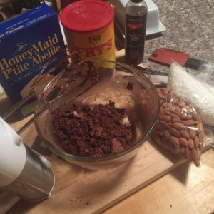 Nanaimo Bars: bottom layer preparation