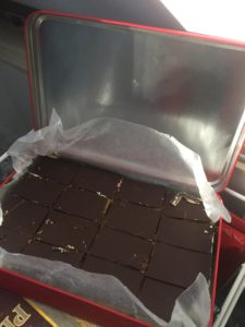 Nanaimo bars - ready to eat and into the freezer