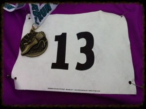 Lucky # 13 + Medal for first in age division